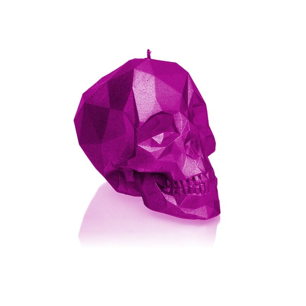 Pink Metallic Small Low Poly Skull