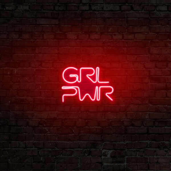 Girl Power - Red Red Wall Lamp