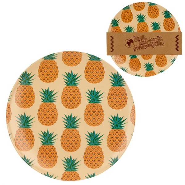 Bambootique Eco Friendly Pineapple Design Plate