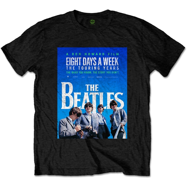 The Beatles - 8 Days a Week Movie Poster Unisex Large T-Shirt - Black