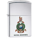 Zippo Royal Marines Official Crest High Polish Chrome Finish Windproof Lighter