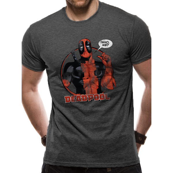 Deadpool - Who Me Men's Small T-Shirt - Grey