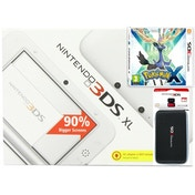 White Nintendo 3DS XL Console Bundle with Pokemon X and 3DS XL Carry Case