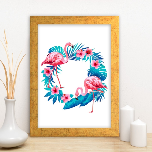 AC10783287532 Multicolor Decorative Framed MDF Painting