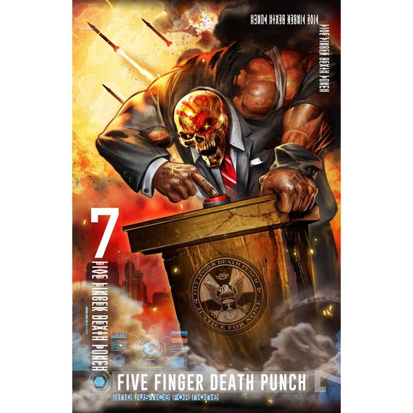Five Finger Death Punch - And Justice For None Textile Poster