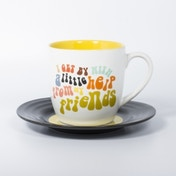 Thumbs Up! L&M Mug and Saucer Set Friends 2