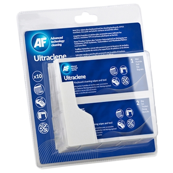 AF Ultraclene Keyboard Cleaning Wipes 10 Pack