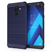 CASEFLEX SAMSUNG GALAXY A6 PLUS (2018) CARBON ANTI FALL TPU CASE - BLUE