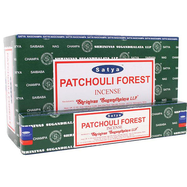 Box of 12 Packs of Patchouli Forest Incense Sticks by Satya
