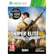 Sniper Elite III 3 with Hunt the Grey Wolf DLC Xbox 360 Game (with Desert Ghost Comic)