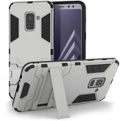 Caseflex Samsung Galaxy A8 Plus (2018) Armour Kickstand Case - Silver