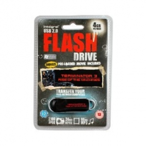 4GB USB Flash Drive Pre Loaded With Terminator 3 Rise Of The Machines Movie