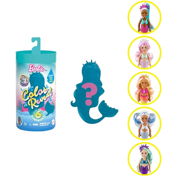 Barbie: Colour Reveal Mermaid Pet (1 At Random)
