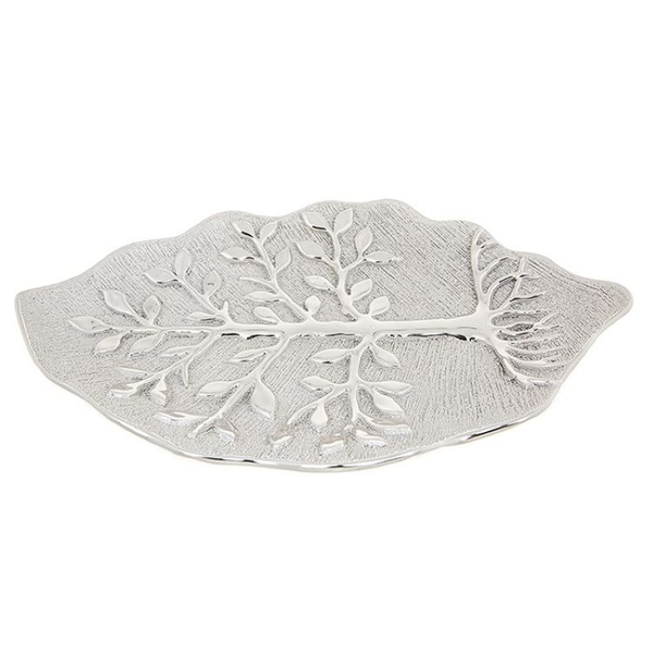 Tree of Life Leaf Plate Champagne Ornament
