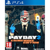 Payday 2 Crimewave Edition PS4 Game with Hardtime Loot Bag DLC & Pin Badge