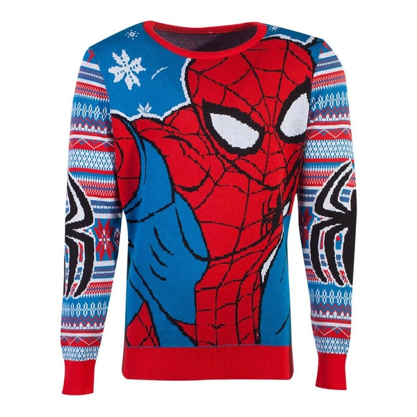 Marvel Comics - Spider-Man Christmas Unisex X-Large Christmas Jumper - Multi-Colour
