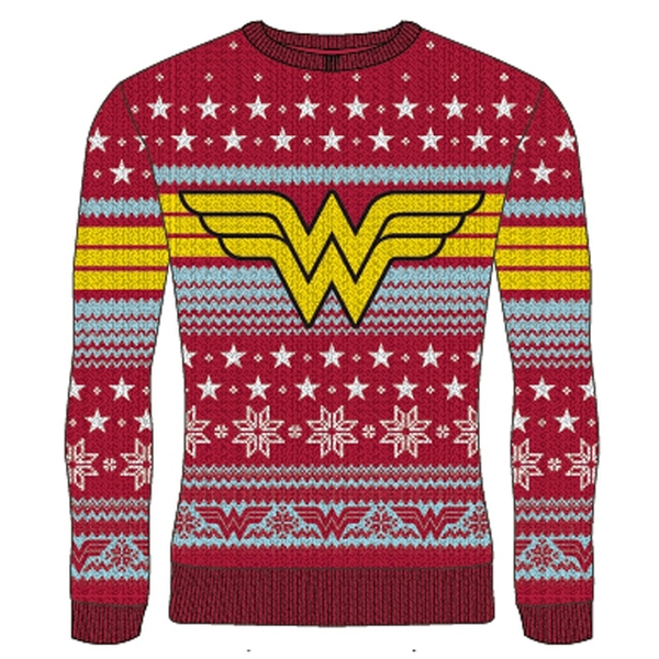 DC Wonder Woman - Logo Unisex Christmas Jumper Large