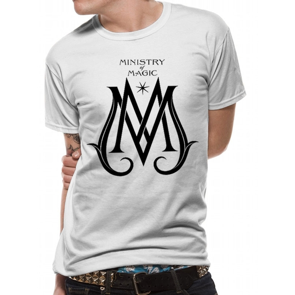 Crimes Of Grindelwald - Ministry Deco Logo Unisex Medium T-shirt - White