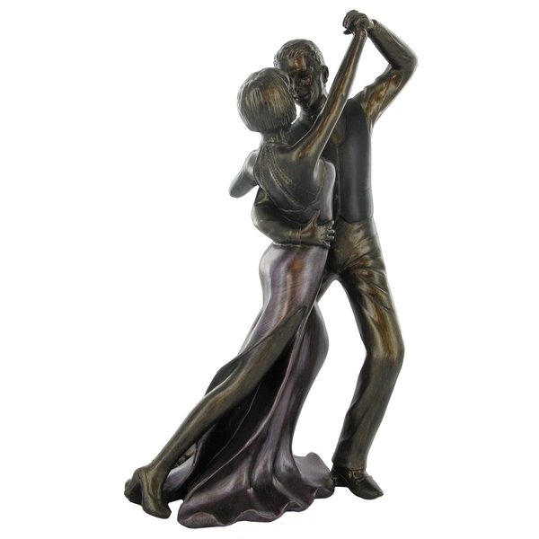 Ballroom Dancing Cold Cast Bronze Sculpture 28cm