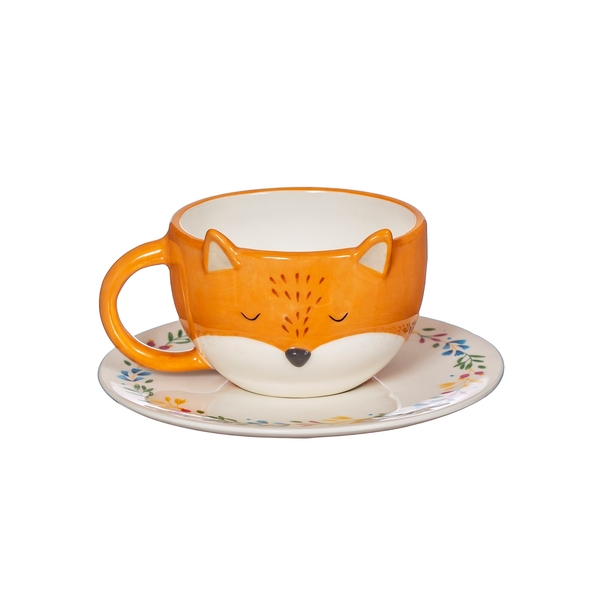 Sass & Belle Finley Fox Tea Cup and Saucer Set
