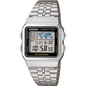 Casio A500WEA-1EF Silver Grey Unisex Digital Watch