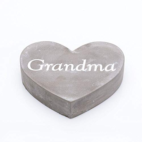 Thoughts Of You Graveside Concrete Heart - Grandma