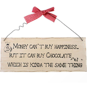 Money Can't Buy You Happiness Hanging Sign