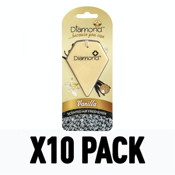 Vanilla 2D (Pack Of 10) Diamond Air Freshener