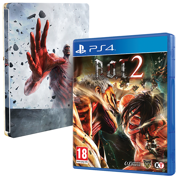 Attack On Titan 2 (A.O.T) Wings Of Freedom PS4 Game + Steelbook
