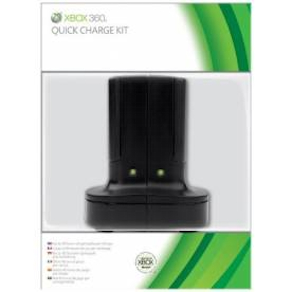 Elite Official Microsoft Quick Charge Kit in BLACK Xbox 360
