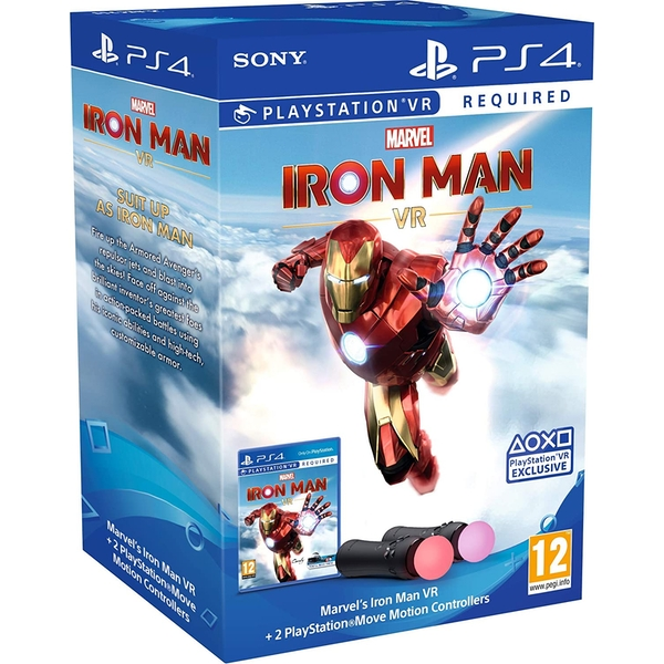 Marvel's Iron Man VR PlayStation Move Controller Bundle (PSVR Required) [Multi-Language Cover] - Image 1