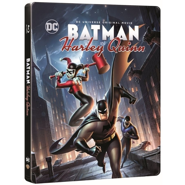 Batman And Harley Quinn Steelbook Blu-Ray   Digital Download