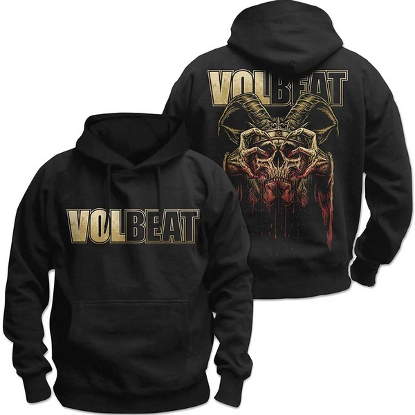 Volbeat - Bleeding Crown Skull Unisex Medium Pullover Hoodie - Black