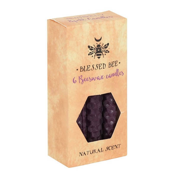 Pack of 6 Purple Beeswax Spell Candles