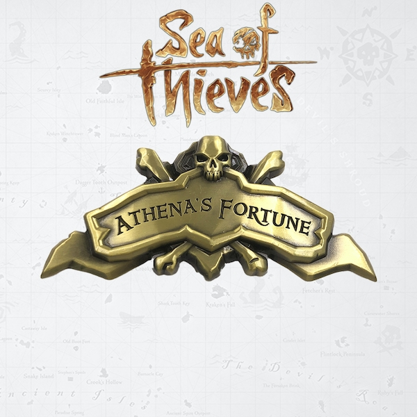 Athena's Fortune Ship (Sea Of Thieves) Antique Limited Edition Collectable Plaque