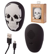 Black and White Skull Portable Bluetooth Speaker