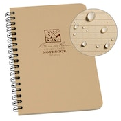 Rite In The Rain Universal Notebook, Side Spiral Bound 4.5 x 7 Inch - Tan