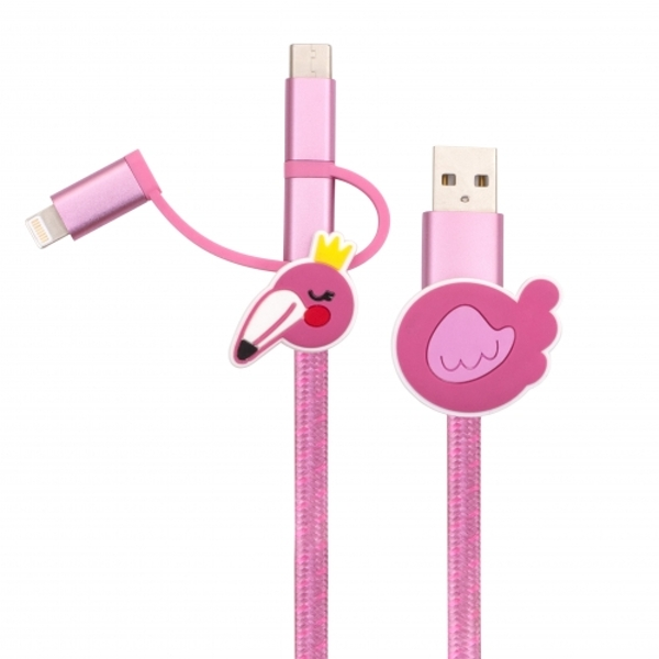Thumbs Up! Flamingo 3-in-1 Cable - 1m