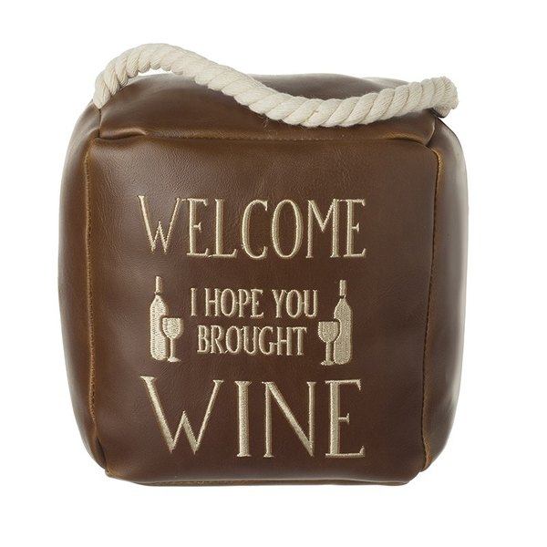 Welcome Wine Door Stop By Heaven Sends