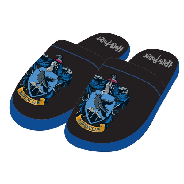 Ravenclaw Harry Potter Mule Slippers Black & Blue Men's Large UK 8-10