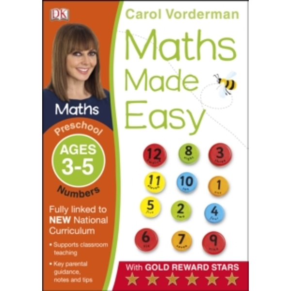 Maths Made Easy Numbers Preschool Ages 3-5 by Carol Vorderman (Paperback, 2014)