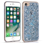 Caseflex iPhone 7 Tinfoil Soft Case - Blue