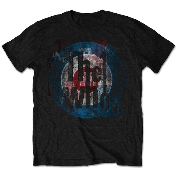 The Who - Target Texture Unisex XX-Large T-Shirt - Black