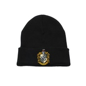 Harry Potter - Hufflepuff Crest Beanie - Black