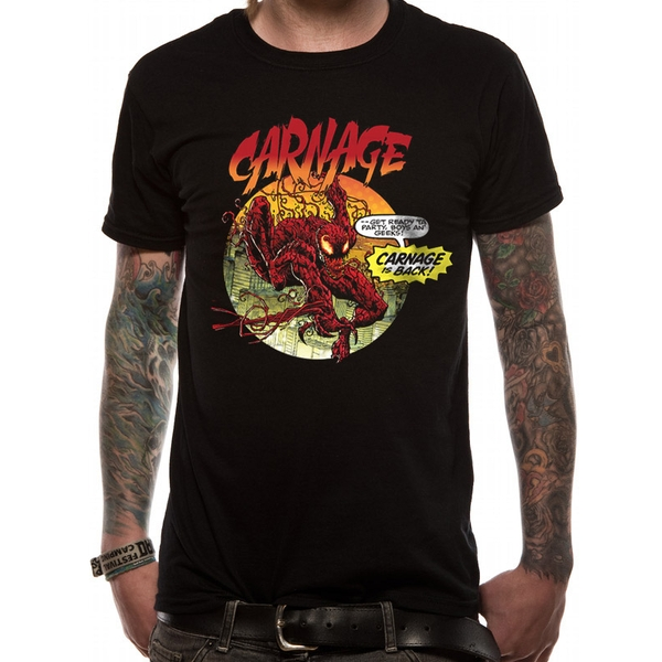 Marvel Now - Carnage Is Back Men's Large T-Shirt - Black