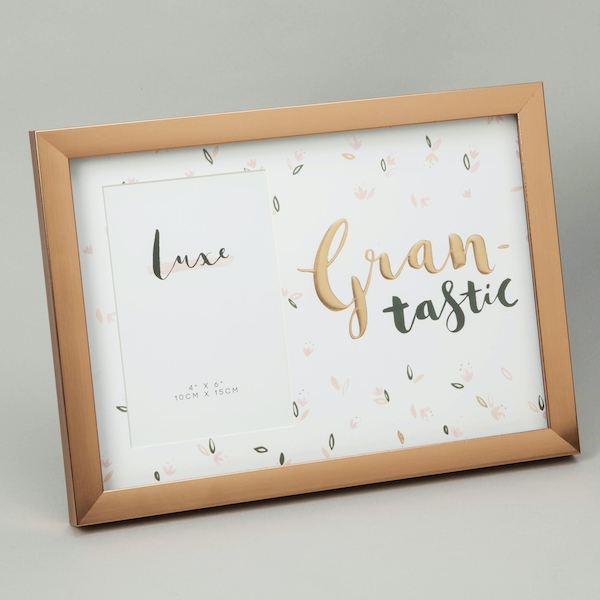 """Luxe Rose Gold Birthday Frame 4"""" x 6"""" - Grantastic"""