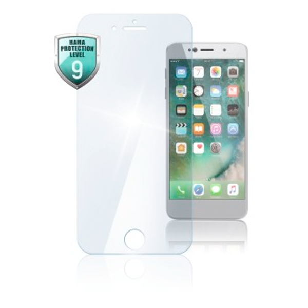 """Hama """"Premium Crystal Glass"""" Real Glass Screen Protector for Apple iPhone 7"""