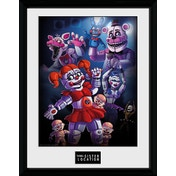 Five Nights At Freddy's Sister Location Group Framed Collector Print