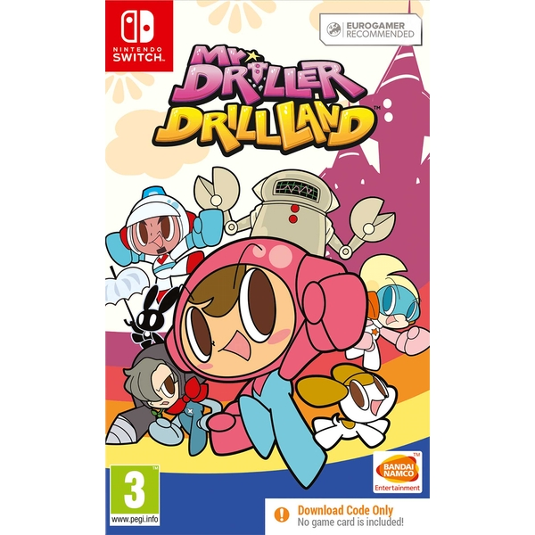 Mr. DRILLER DrillLand Nintendo Switch Game [Download Code In A Box]