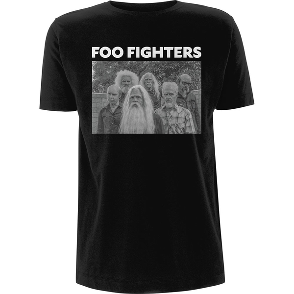 Foo Fighters - Old Band Photo Unisex X-Large T-Shirt - Black